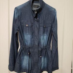 Cavalini dark wash ombre denim jacket